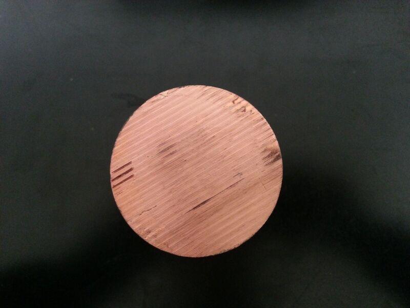 "Copper Round Disc 3 1/2"" Dia 1/4"" Thick"