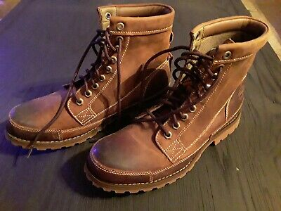 *SIZING ISSUE* TIMBERLAND MENS EARTHKEEPERS ORIGINAL BROWN LEATHER 6-INCH BOOTS