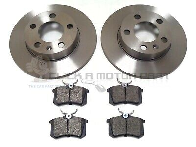 SKODA FABIA VRS 1.9 TDi 2.0 2000-2007 REAR 2 BRAKE DISCS AND PADS SET NEW