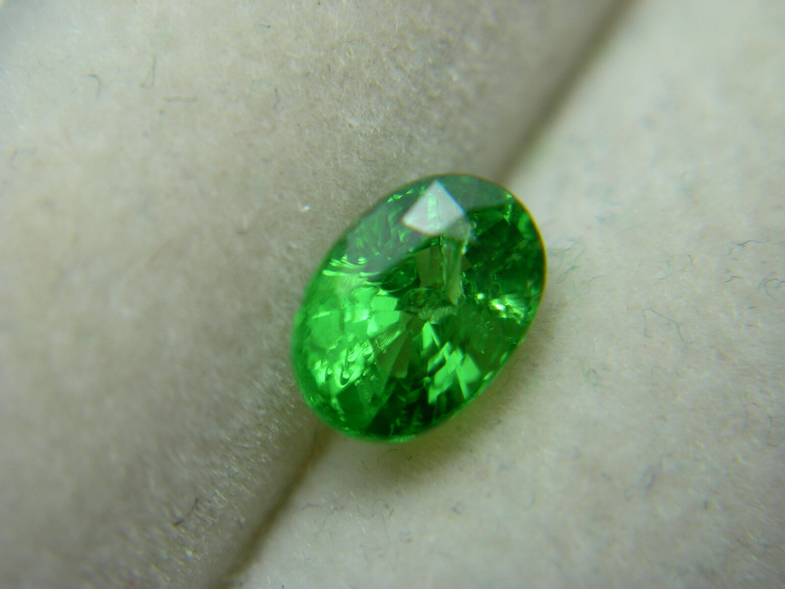 cut gemstone green tsavorite sparkling garnet cushion
