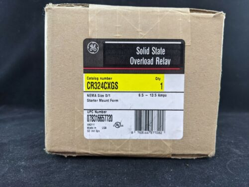 General Electric CR324CXGS Overload Relay 6.5 - 13.5 AMPS