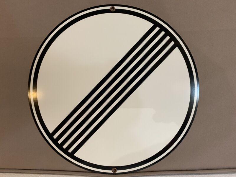 Autobahn road sign NO speed limitGerman European Porsche BMW Mercedes Audi vw