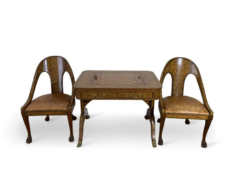 Maitland Smith Game Table And Chairs
