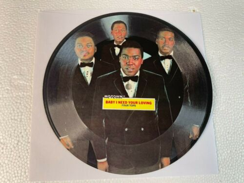 FOUR TOPS - BABY I NEED YOUR LOVING - 45 rpm TOPPS Flexi Disc