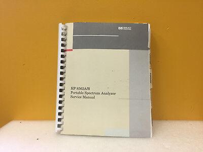 Hp Agilent 8562ab Portable Spectrum Analyzer Service Manual