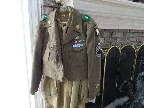 Vintage Military Uniform WWII Airborne Complete Tech Sergeants
