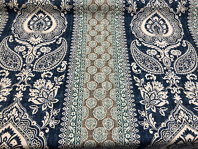P Kaufmann Soup of Provence Mediterranean Blue Fabric by the Yard