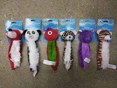 "GKC Flat Plush 7"" Squeaky Dog Puppy Toys Lot of 3 - RANDOM COMBINATIONS"