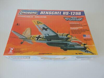 LINDBERG   HENSCHEL Hs 129B     1:72 scale new sealed plastic  kit suits Airfix