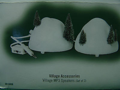 DEPARTMENT 56 VILLAGE ACCESSORIES VILLAGE MP3 SPEAKERS SET OF 2 IN ORIG BOX Mp3 Accessories Set