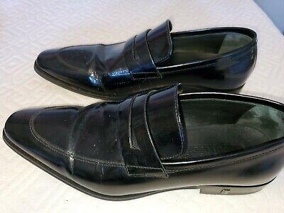 Versace Collection Men's Black Polished Leather Dress Shoes 8 M US, 41 M EU
