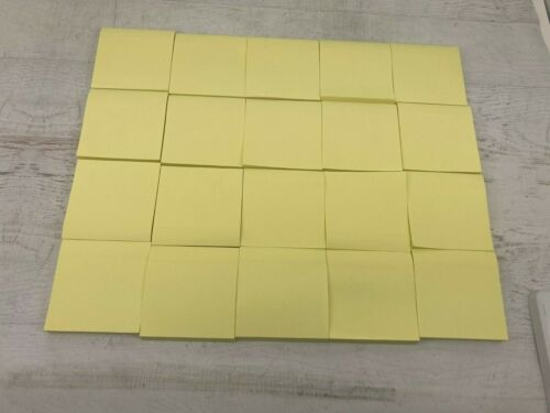 20-pack Post-It Self-Stick Notes, Yellow Sticky Note