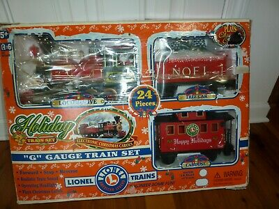 LIONEL BATTERY OPERATED CHRISTMAS TRAIN~24 PC~SET 62134~G-GAUGE~LIGHTS/SOUNDS