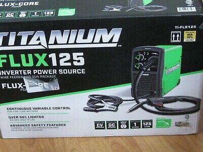 Titanium Easy-flux 125 Amp Welder New In Box Fast Ship Usa