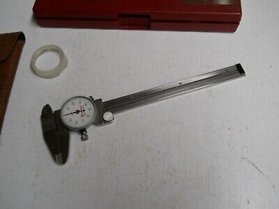 Starrett 120-6 Dial Caliper. Wholster Crystal Protector  Used