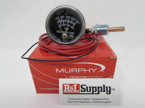 6FT MURPHY 20T-250-6-1/2 250 DEGREE TEMPERATURE GAUGE FOR EQUIPMENT & CHIPPERS
