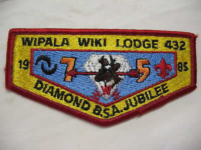 L@@K! Wipala Wiki S10 OA Lodge 432 BSA 75th Aniv Pocket Flap Patch Boy Scouts  for sale  Tijeras