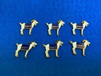 Goat Emblem Orange Lodge Order Nickel Plated for Collarette Sash
