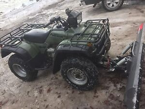 2001 Honda 450 with winch and plow.