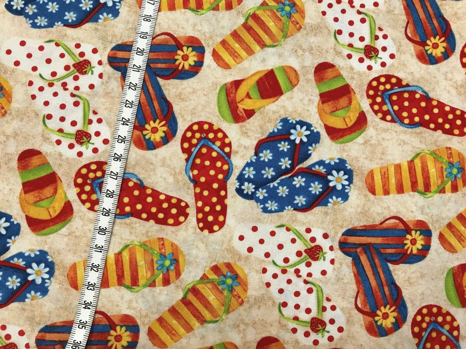 Sandalen Badeschlappen USA Designerstoff Baumwollstoff