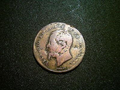 1861 ITALY 5 CENTESIMI COIN. LOVELY TONE
