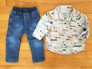 Gap 6-12 month shirt, George 6-12 month jeans