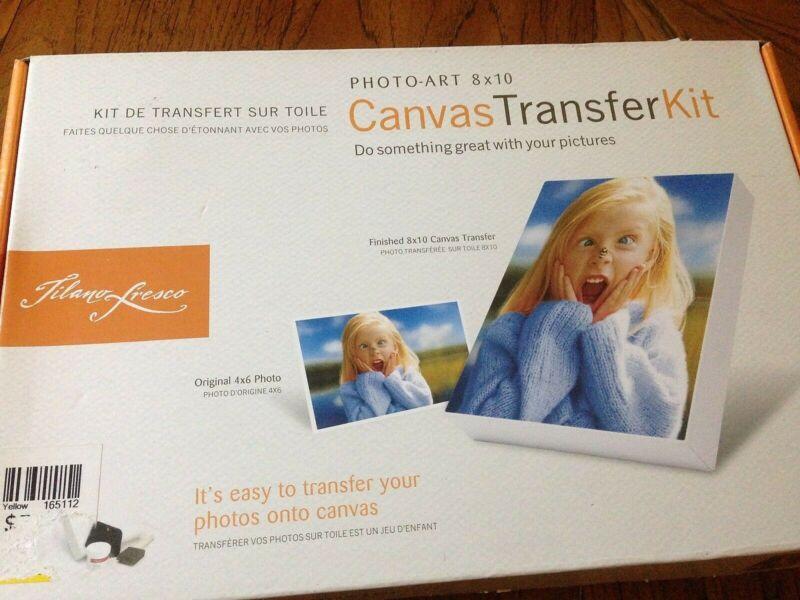 Tilano Fresco Photo Art 8x10 Canvas Transfer Kit do it yourself NIB NEW OPEN BOX