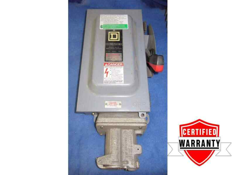 Square D H361AWC 30amp Fused Disconnect Crouse Hinds 4p Receptacle 1yr warranty