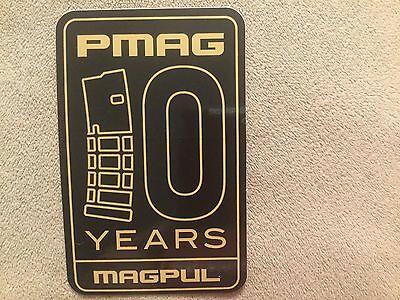 (MAGPUL 10 Years PMAG Sticker / Guns / Ammunition / Hunting / Mancave)