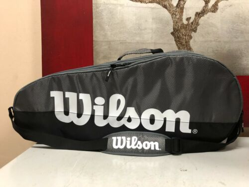 New Wilson Team 2 Compartment Tennis Bag - Grey/Black - Small