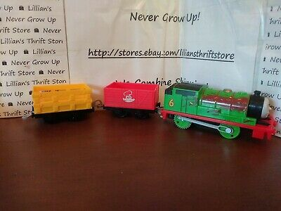 ⭐Thomas the train Trackmaster Percy's Chocolate Crunch motorized train⭐ WORKS!!