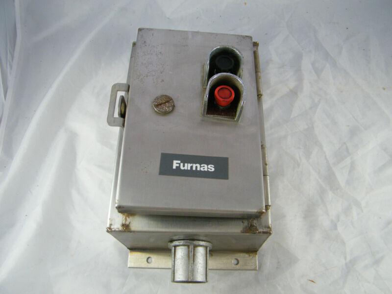 FURNAS ~ NEMA ENCLOSURE BOX WITH STARTER ~  PART # 11CB3E ~  STARTER SIZE M-0