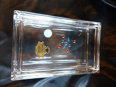 Tiffany & Co Glas Dose rechteckig mit swarovski steinen Rarität Neu mit Etikette
