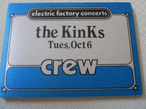 The Kinks  1981 - satin CREW  pass - with/Red Rider at the Spectrum