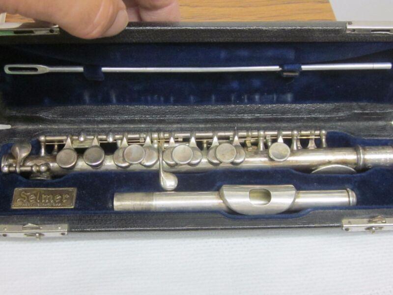 Selmer New York U.S.M.C. vintage piccolo-in original case,rare,key of C