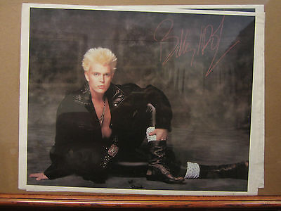Vintage small Billy Idol Rock Poster chrysalis records cassettes -
