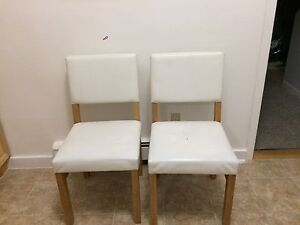 4 white pocket back chair