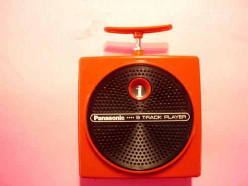 8 TRACK PLAYER PANASONIC RQ-830S  RED  working condition  tech serviced