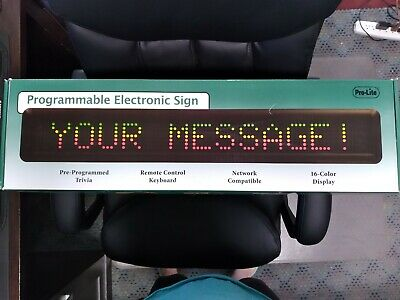 Prolite Programmable Electronic Sign