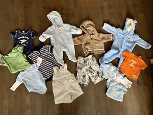 BOYS baby clothes, all between 3-6 approx