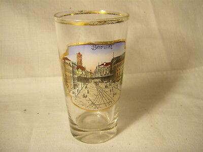 altes Andenkenglas , Berlin , Alexanderplatz , 1/4 L