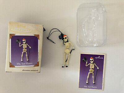 2003 HALLMARK HALLOWEEN ORNAMENT - MR. TAP HAPPY - MIB with Memory Card