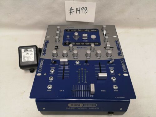 NUMARK DXM-06 2 CHANNEL DJ MIXER WITH EFFECTS #1498 GREAT USED WORKING CONDITION
