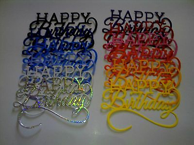 Happy Birthday Tonic Die cuts Quantity 10 cut from G Q Card