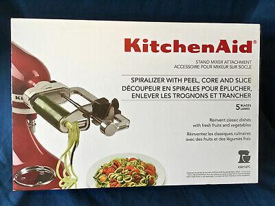 KITCHENAID Spiralizer (w/Peel, Core & Slice) Stand Mixer Attachment(KSM1APC) NIB