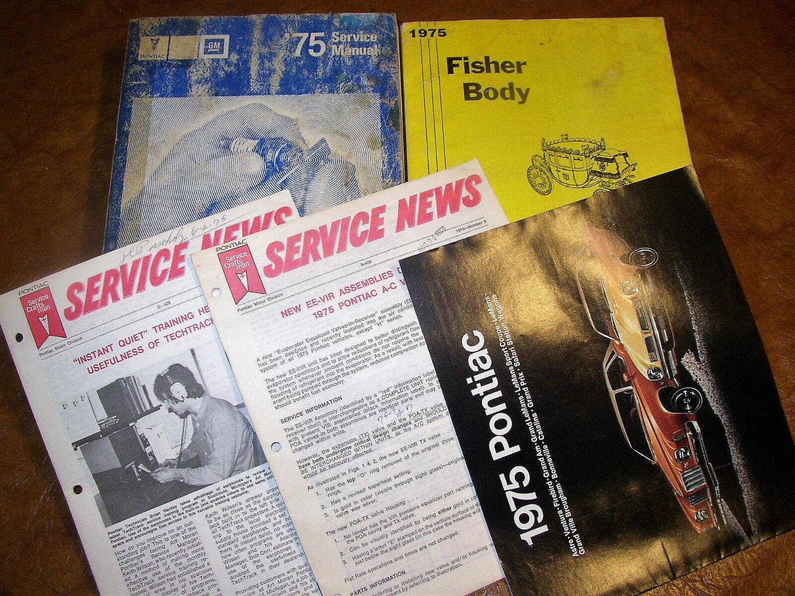 1975 75 Pontiac Service Manuals Firebird Grand Am Catalina LeMans Ventura 4 Vols