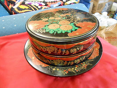 Great Oriental Design Lacquer LAZY SUSAN Multi Section Suschi Tray..........SALE ()