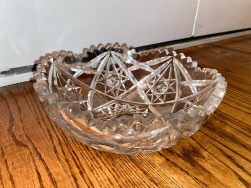 Cut Pattern Crystal Bowl