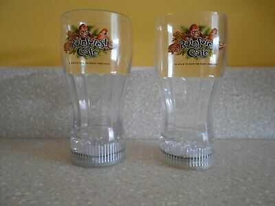 Tall Plastic Cups (RAINFOREST CAFE Plastic Cups W/Light Up Base 7