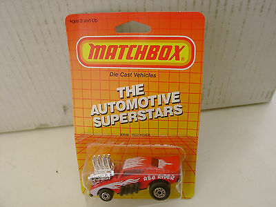 1972 MATCHBOX SUPERFAST #48 RED RIDER DODGE CHARGER DRAG CAR NEW MOC